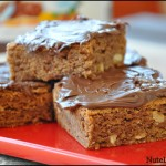 Nutella blondies – Quadrotti nocciole e nutella