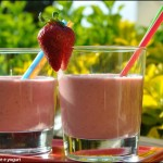 Smoothie alle fragole e yogurt