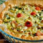Torta rustica zucchine e mascarpone