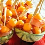 Spiedini di prosciutto e melone
