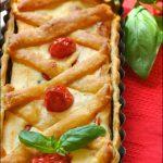 Crostata di ricotta e pomodori