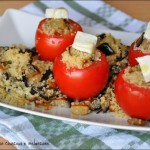 Pomodori ripieni con couscous e melanzane