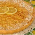 Crostata sbriciolata con crema di ricotta al limone