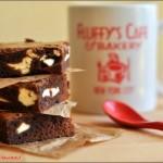 Creamcheese brownies – Brownie al formaggio spalmabile di Nigella