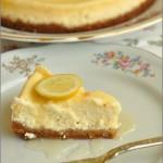 Cheesecake al limone con caramello al limone