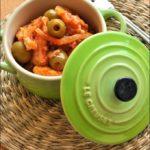 Spezzatino di pesce alle olive (super rapido e super light)