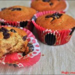 Muffin integrali ai cranberry