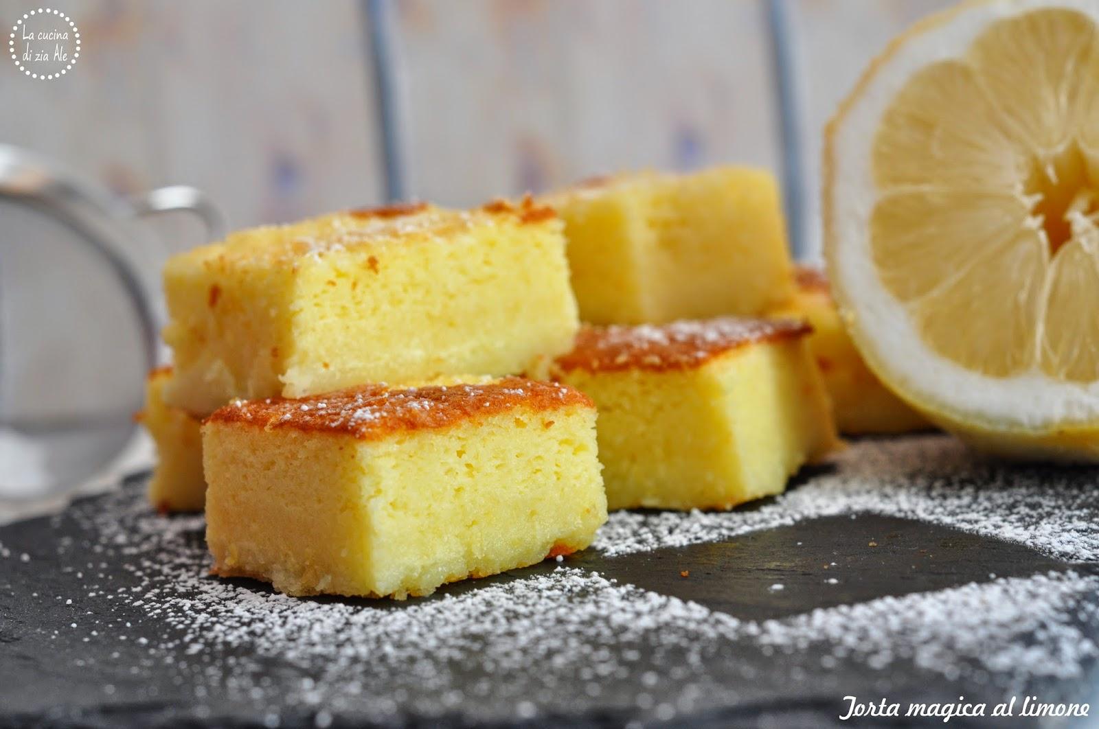 Torta Magica Al Limone Torta Magica Senza Glutine