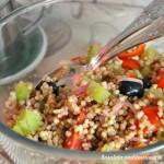 Insalata mediterranea di grano saraceno