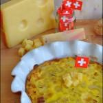Frittata di cipolle caramellate, pancetta affumicata e Emmentaler DOP