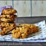 Cookies alle arachidi e gocce di cioccolato (senza glutine)