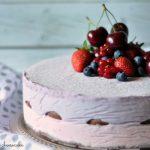 Cheesecake semifreddo ai frutti rossi – No-bake berry cheesecake