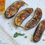 Melanzane arrosto con cipolla caramellata e origano