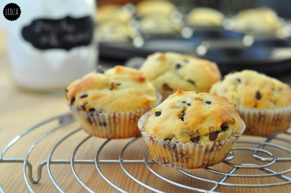 Muffin di ricotta con gocce di cioccolato 1 waterm