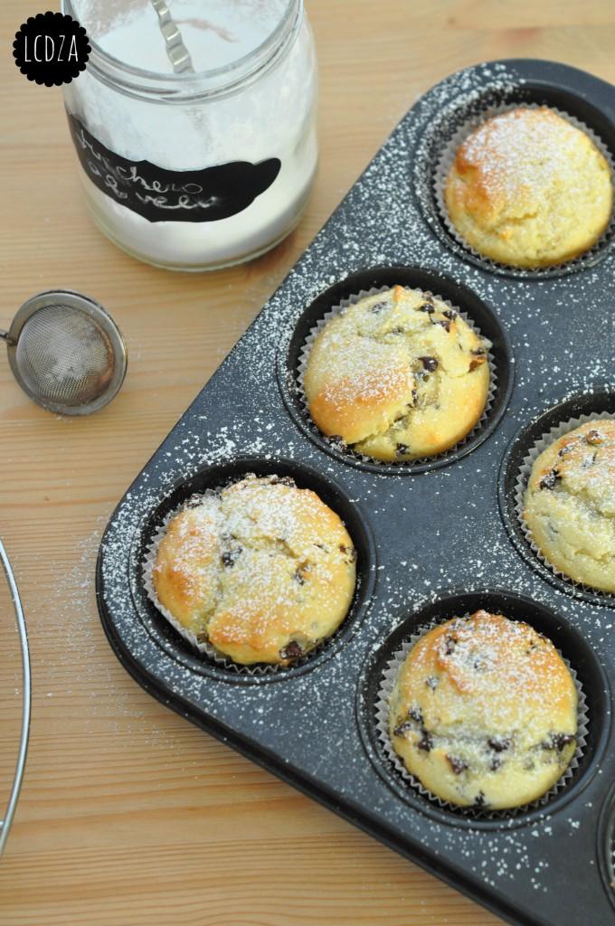Muffin di ricotta con gocce di cioccolato 5 waterm