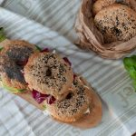Bagel integrali – con tre farciture