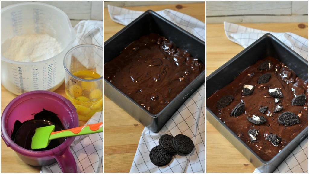 Passo passo Oreo brownies