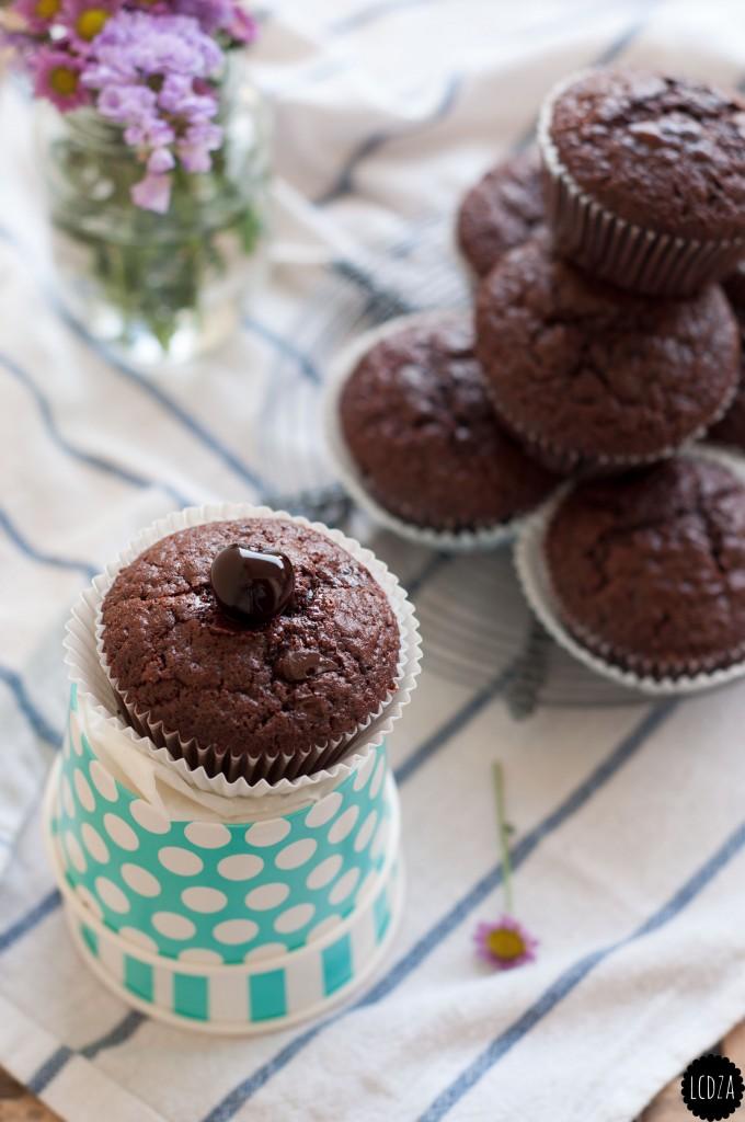 Muffin al doppio cioccolato e amarene 1 bis waterm