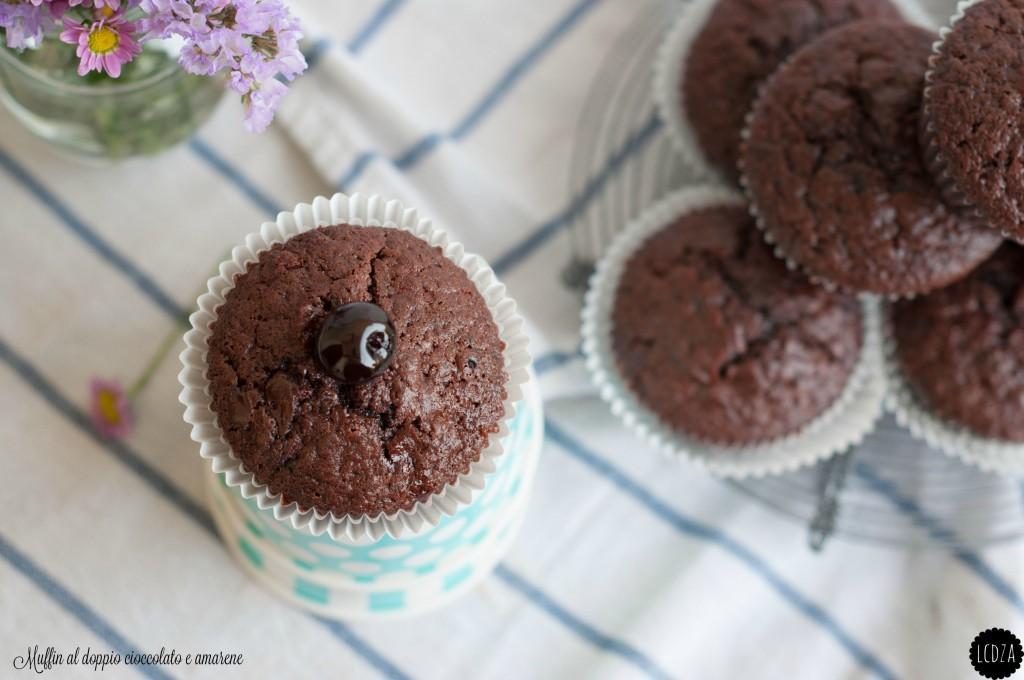 Muffin al doppio cioccolato e amarene 4 waterm