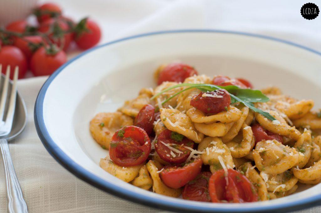 Orecchiette pomodorini confit e pesto di rucola 4 waterm