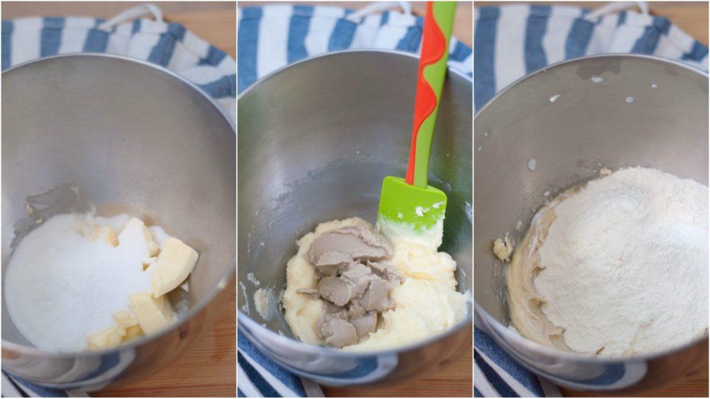 Preparazione biscotti tahini
