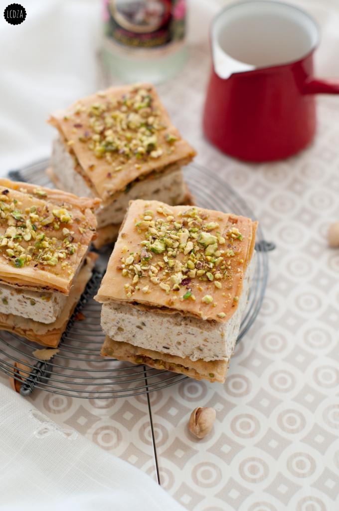 Baklava-con-gelato-al-pistacchio
