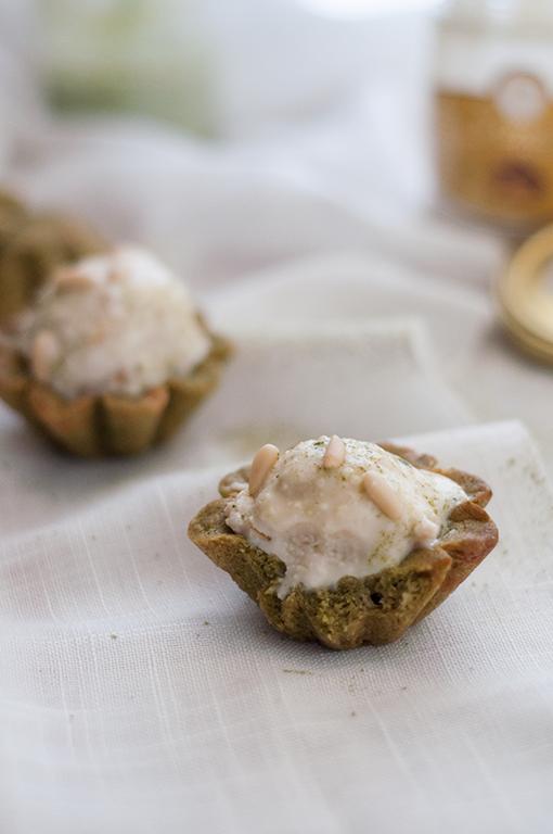 Coppette di biscotto per gelato