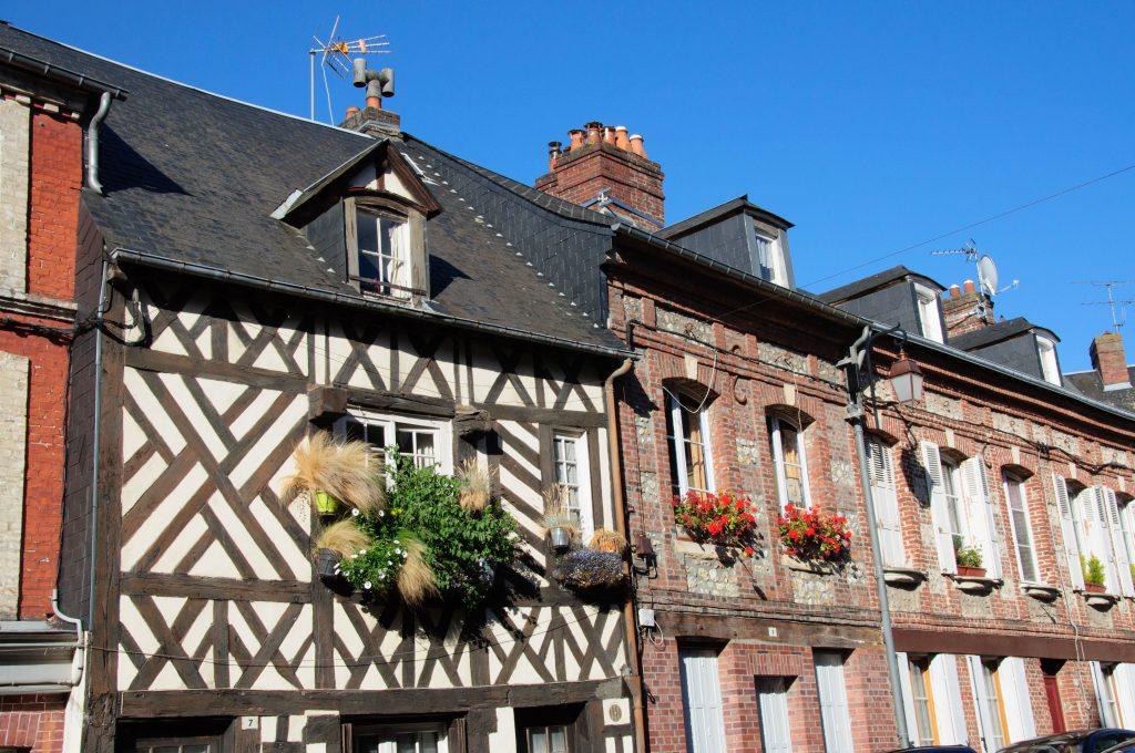 Honfleur-case-tipiche-Normandia