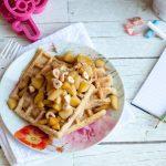 Waffle allo yogurt e nocciole con mele caramellate allo sciroppo d'acero – #seiincucina N°1