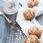 Muffin integrali con uva e avena
