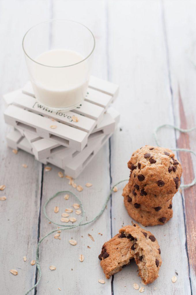 cookies con  avena e sciroppo d'acero