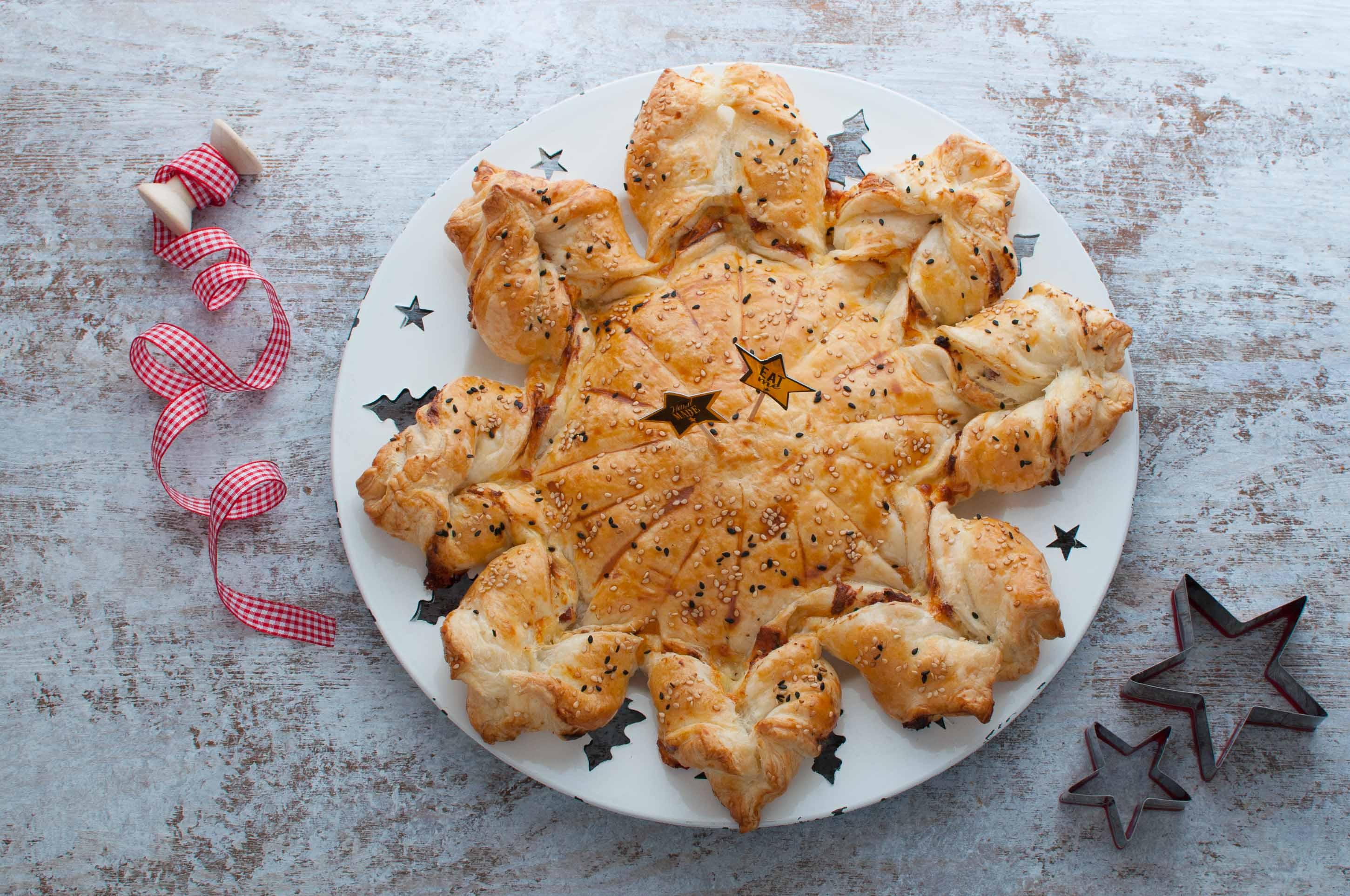 Torta Salata Stella Di Natale.Stella Rustica Di Natale