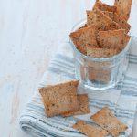 Cracker al sesamo senza lievito