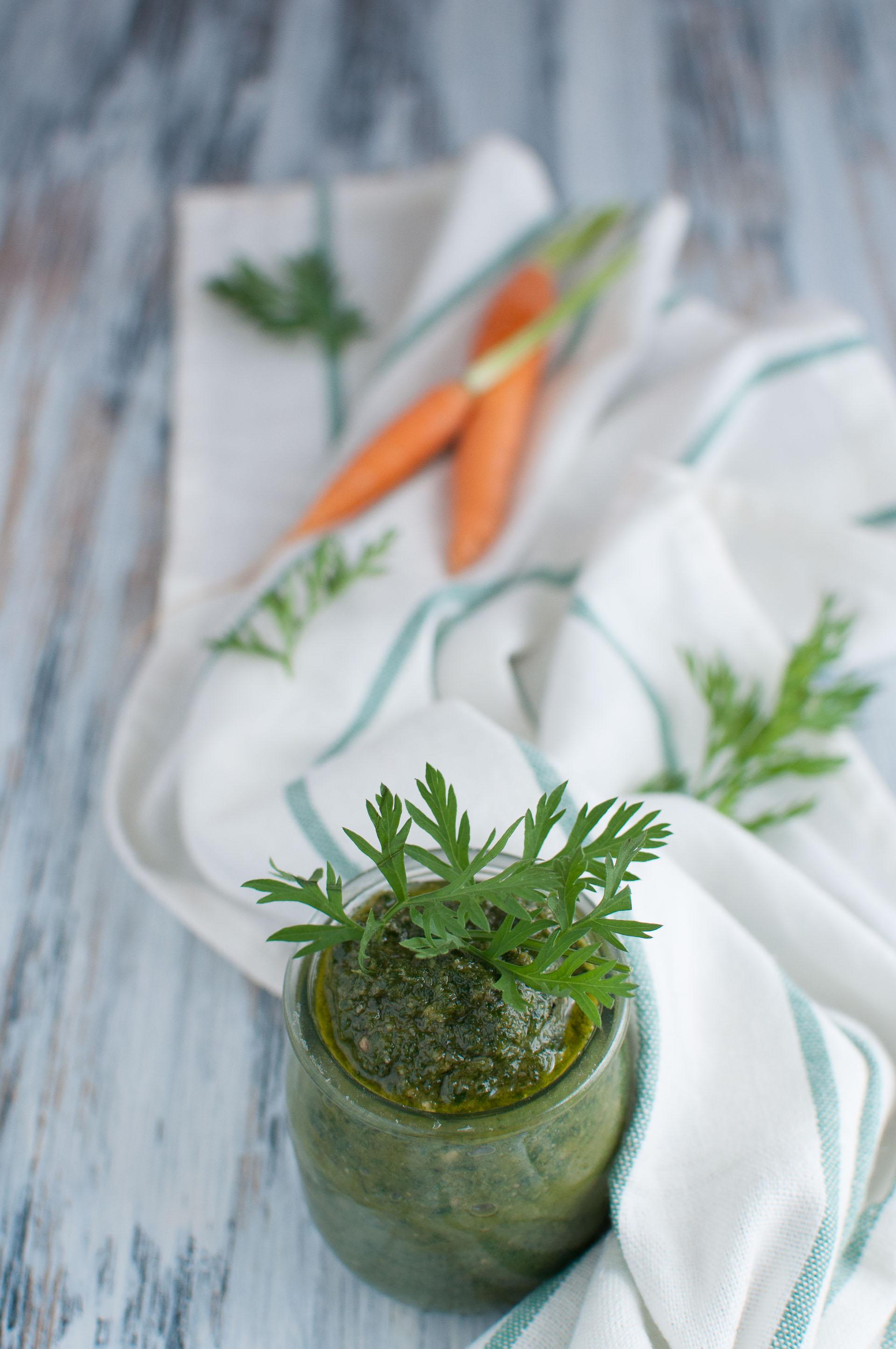 Pesto di foglie di carote come si fa