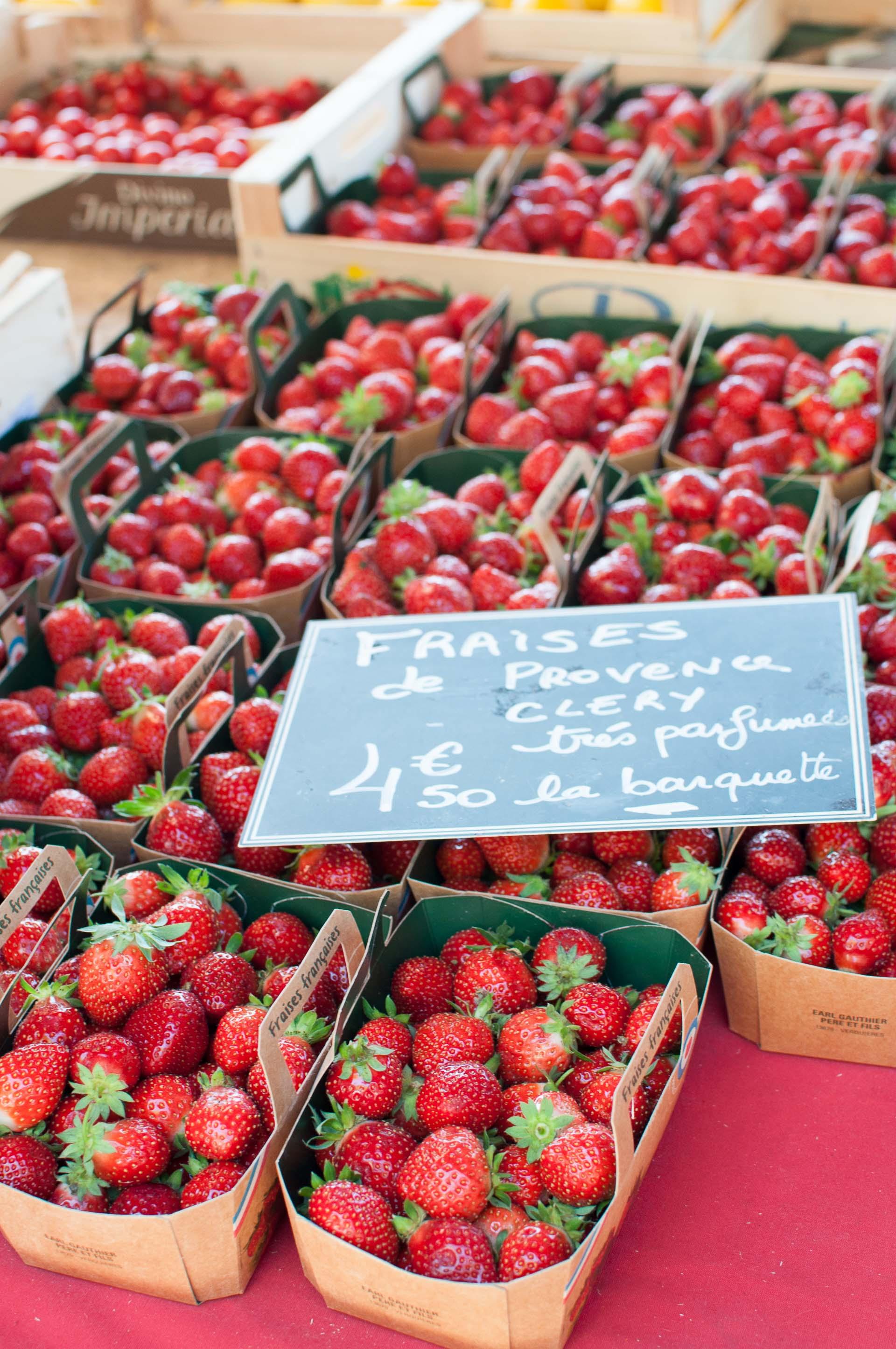 Fragole mercato Aix en Provence
