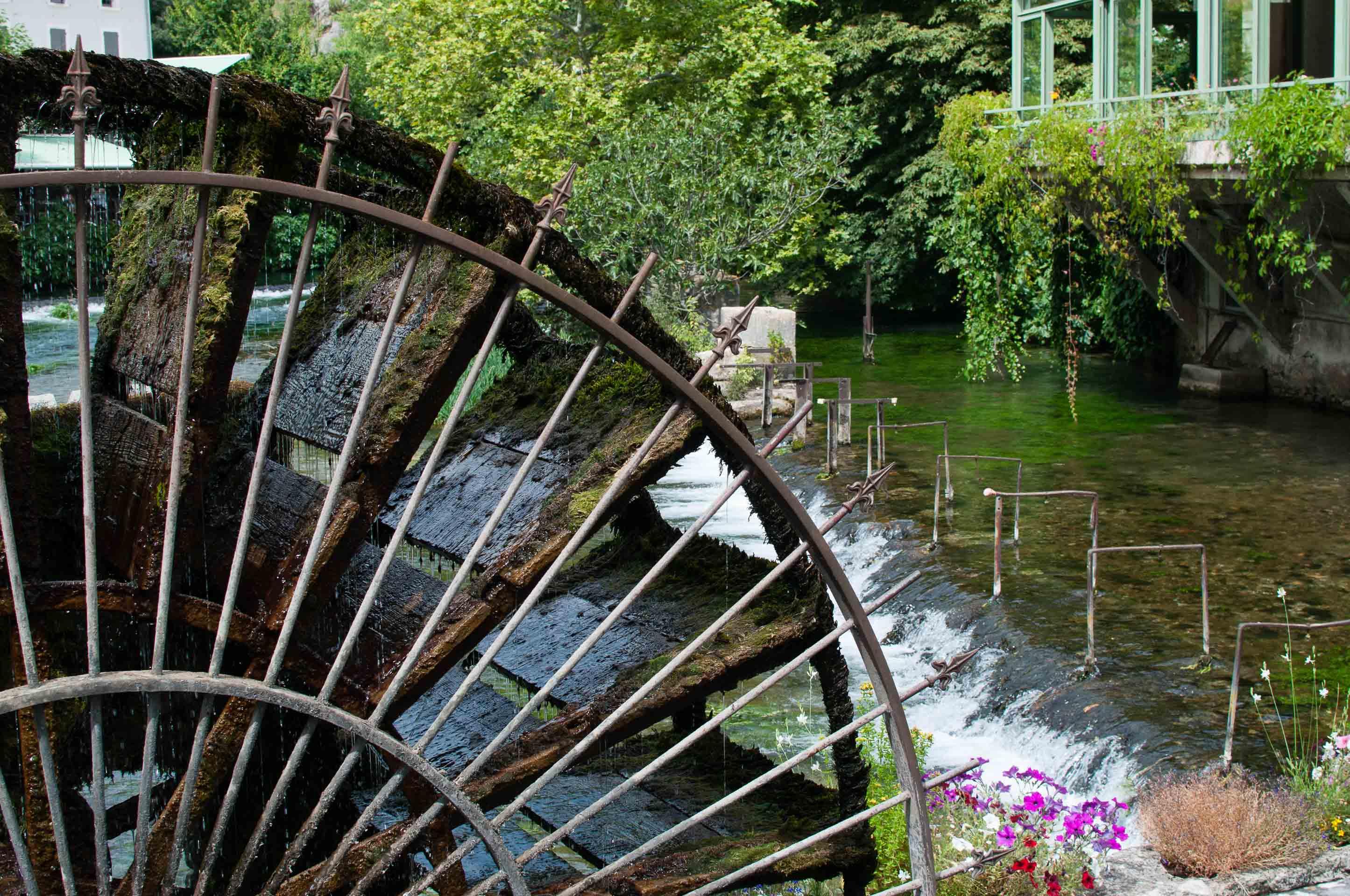 Fontaine de Vaucluse Mulino fiori