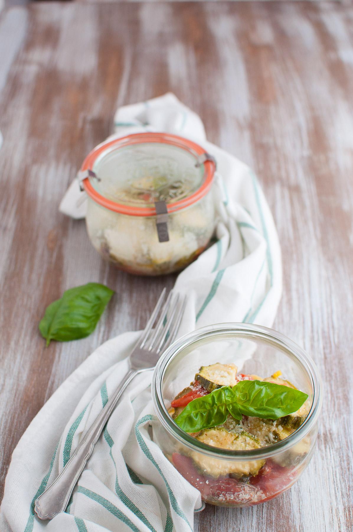 Parmigiana di zucchine in vasocottura microonde