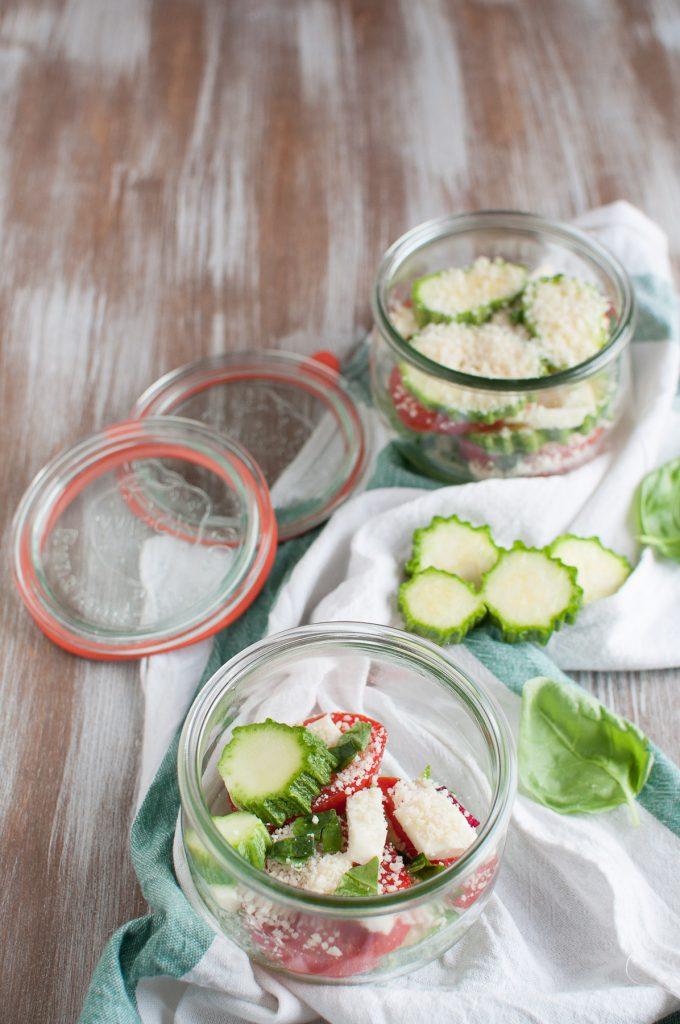 Parmigiana di zucchine in vasocottura preparazione