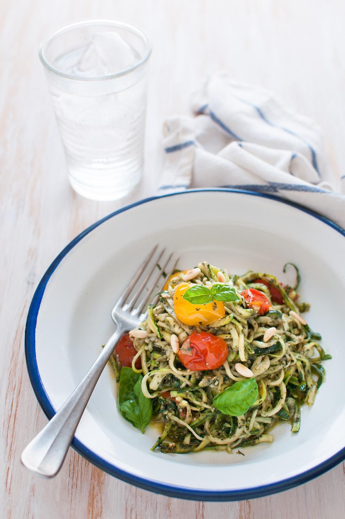 Spaghetti di zucchine low carb