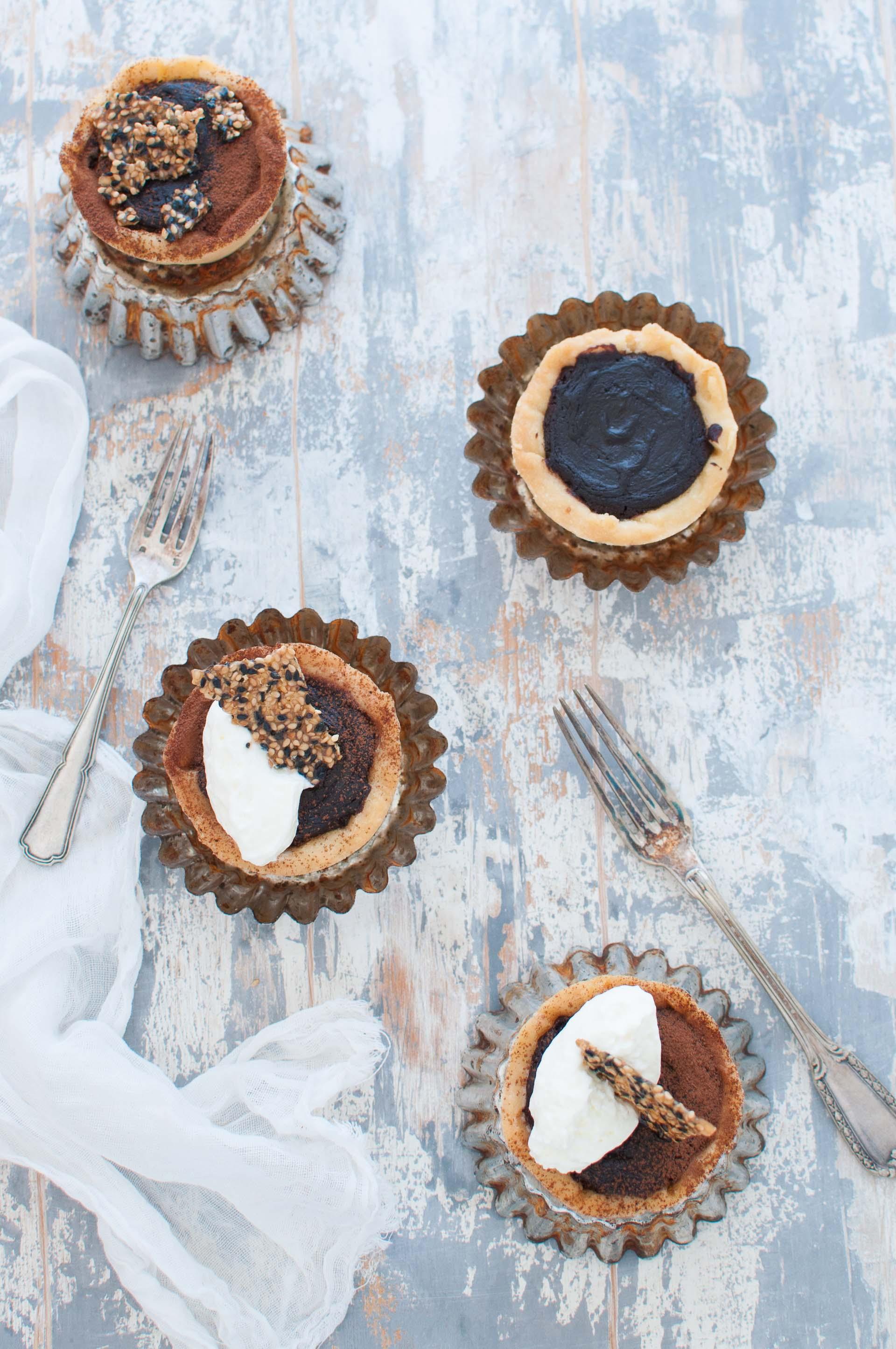 Mini tart al cioccolato Ottolenghi