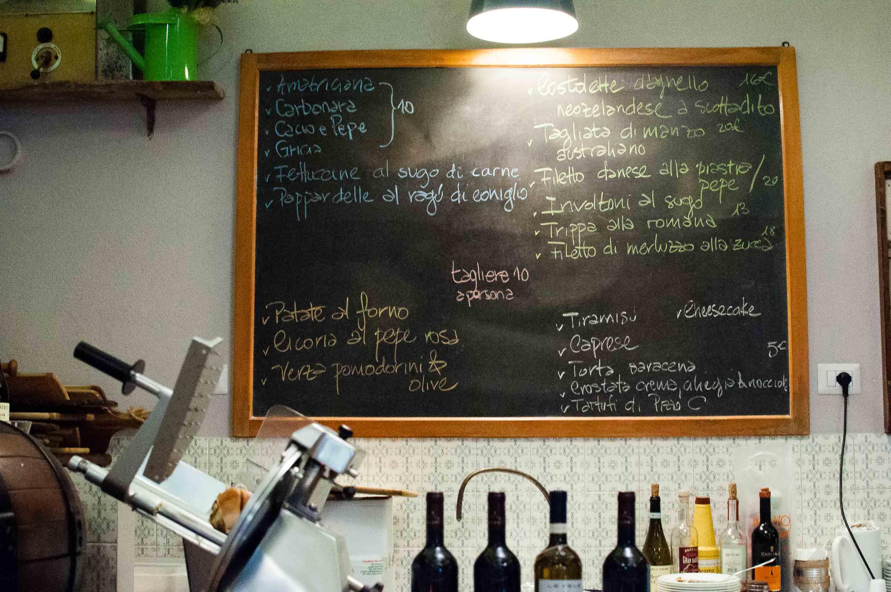 Osteria Sette menu