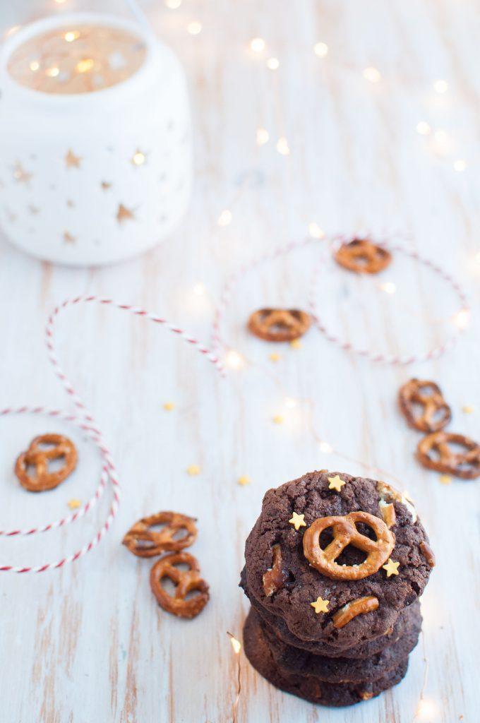 Cookies al cioccolato caramello salato