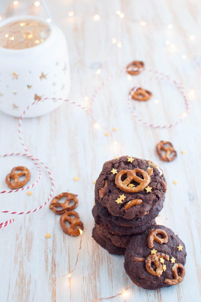 Cookies al cioccolato e sale