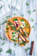 Crostata salata di carote
