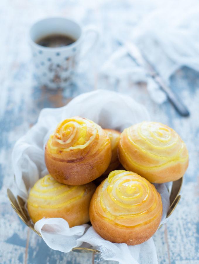 Panini alla crema con metodo tangzhong