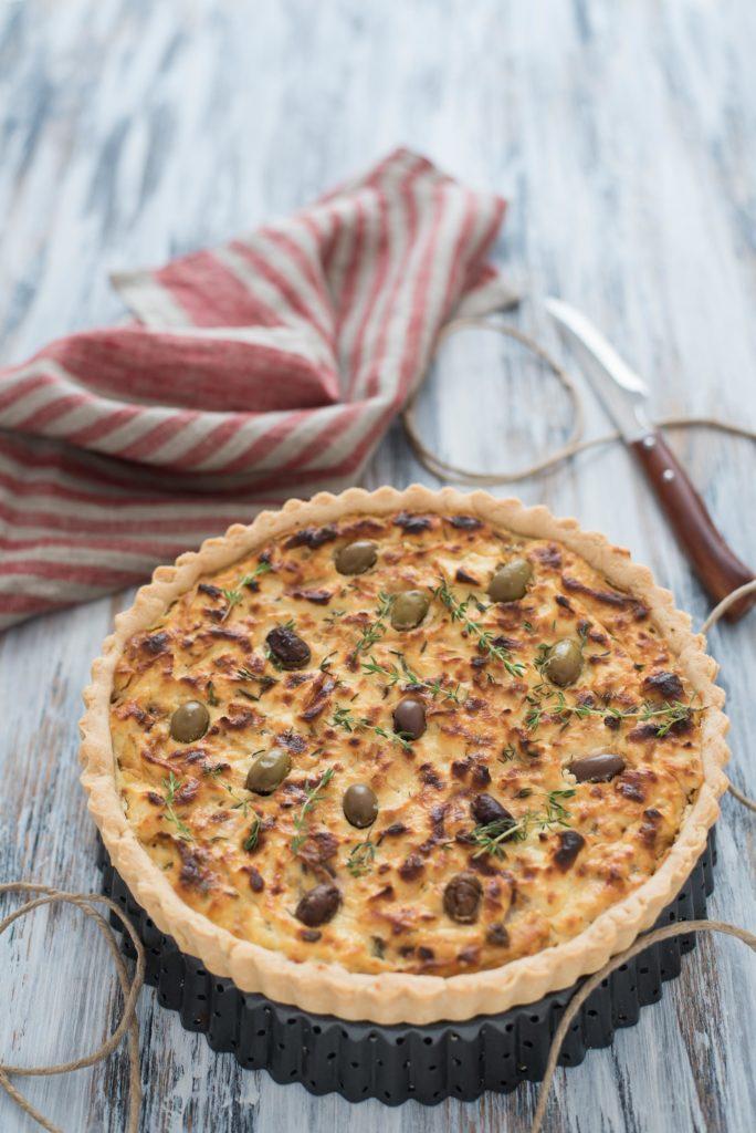 Torta rustica cipolle e olive