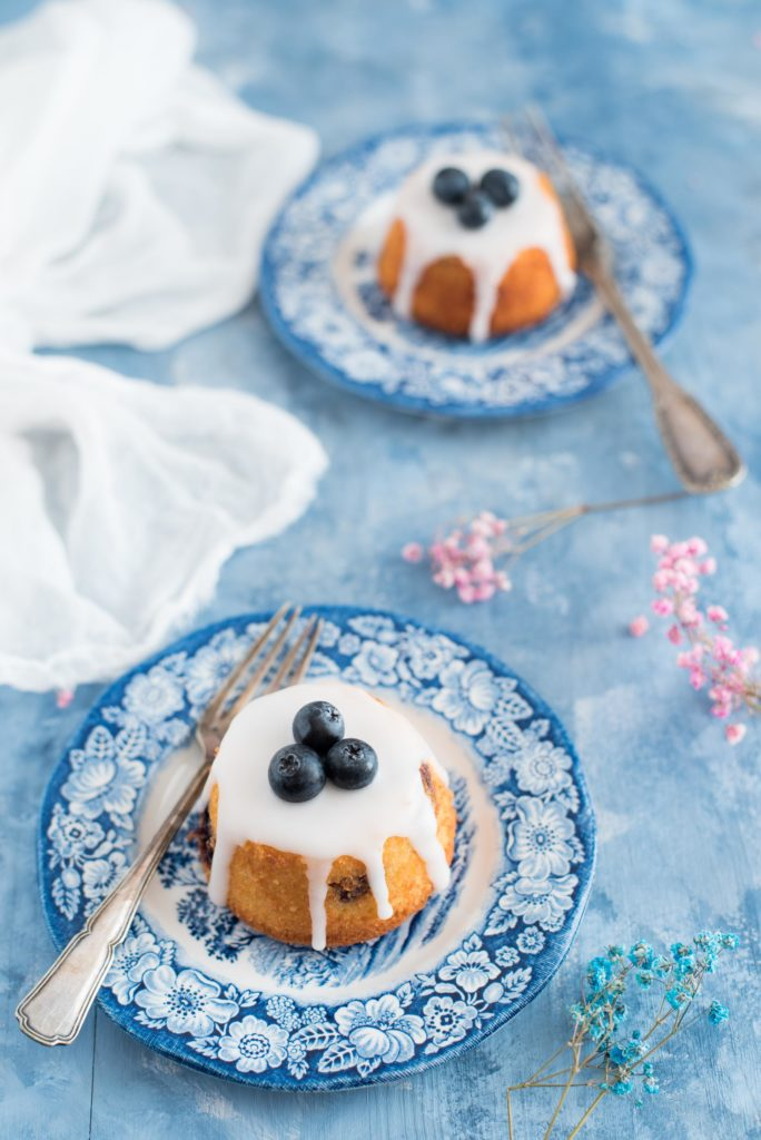 Lemon blueberry and almond teacakes Ottolenghi