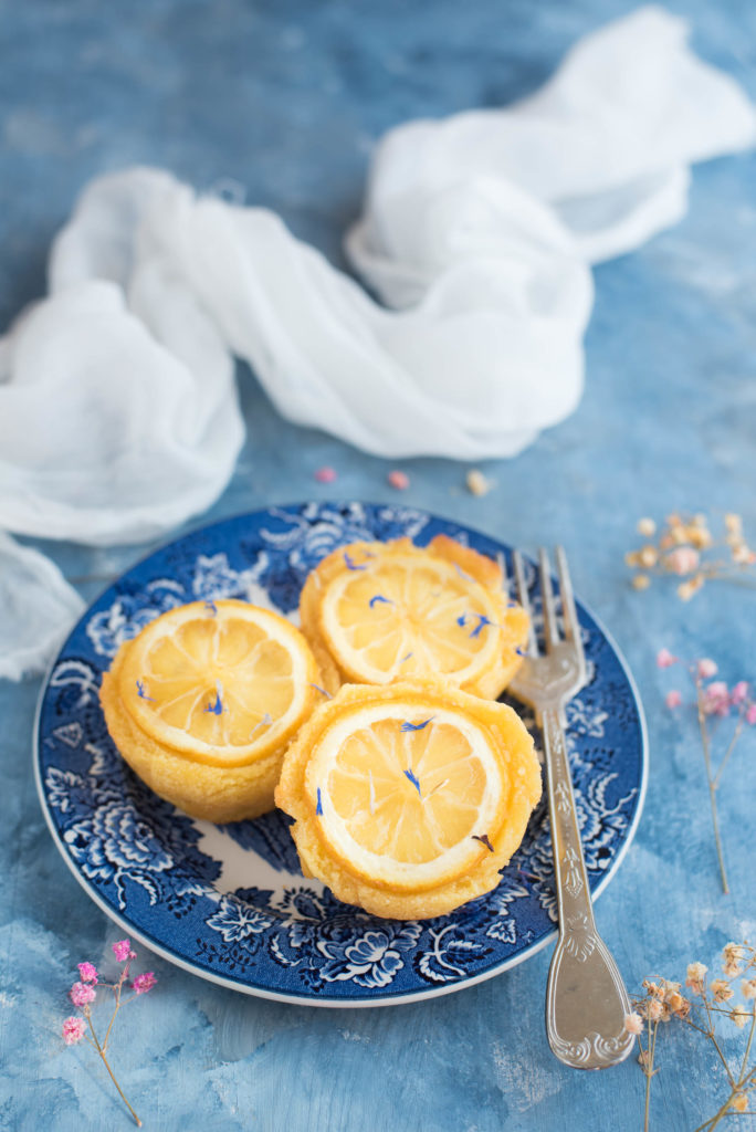 Lemon and semolina cakes Ottolenghi