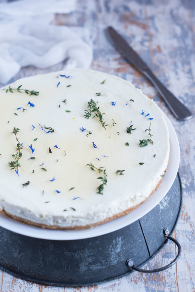 Cheesecake allo yogurt miele e timo