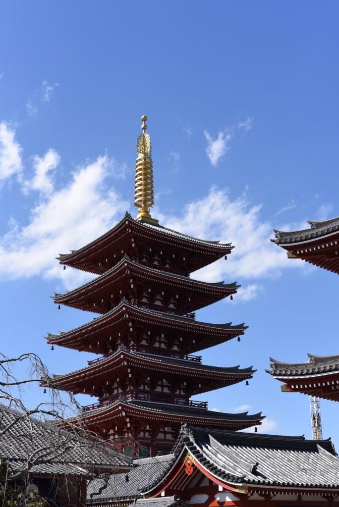 Pagoda Asakusa Tokyo